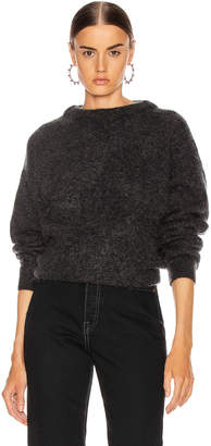 Acne Studios Dramatic Mohair Sweater in Warm Charcoal | FWRD