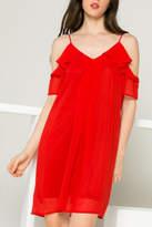 Thml Red Ruffle Dress