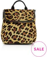 Whistles Mini Verity Leopard Print Backpack