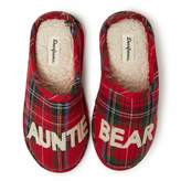 Dearfoams Women's Auntie Bear Clog Slipper - Charming Cozy and Comfortable in Classic Patterns and Colors - Cushioned Insole with Memory Foam - Indoor/Outdoor Rubber Outsole