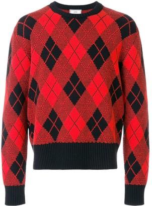 Ami Argyle Jacquard crew neck Sweater