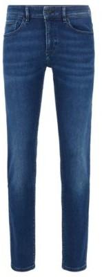 HUGO BOSS Skinny Fit Jeans In Dark Blue Super Stretch Denim - Blue