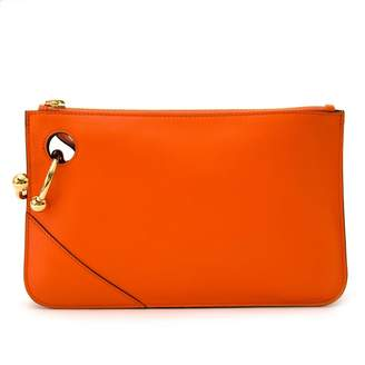 J.W.Anderson Orange Leather Clutch bags