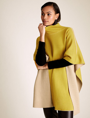 Marks and Spencer Contrast Funnel Neck Poncho