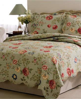 Pem America Edens Garden Twin Quilt with Pillow Sham