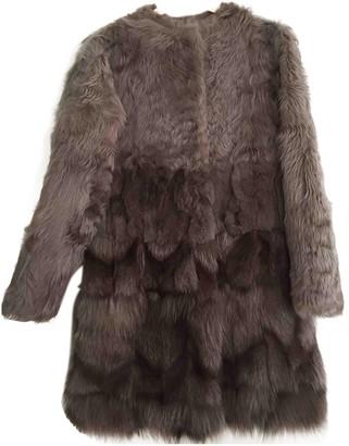 Yves Salomon Brown Fox Coat for Women