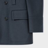 Paul Smith Men's Dark Grey Wool And Cashmere-Blend Peacoat