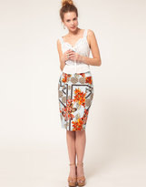 Tropical Floral Skirt