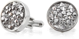 Forzieri Lumiere Crystal and Brass Round Cufflinks