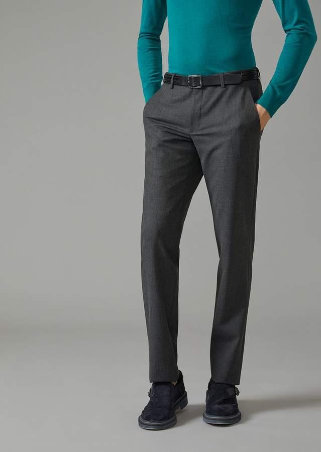Giorgio Armani Trousers In Solid Fabric