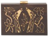 Valentino Garavani Giraffe Wood & Metal Clutch