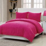 Nobrand No Brand Rose Faux Fur Comforter Set