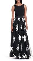 Lauren Ralph Lauren Floral Appliqué Tulle Overlay Gown - 100% Exclusive