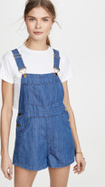 Basic Short Denim Overalls