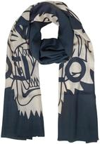 Kenzo Wool and Silk Crest Tiger Stole