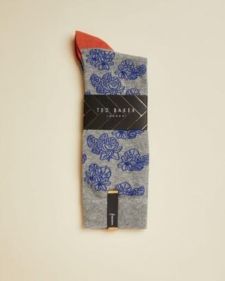 Ted Baker Floral Cotton Blend Socks