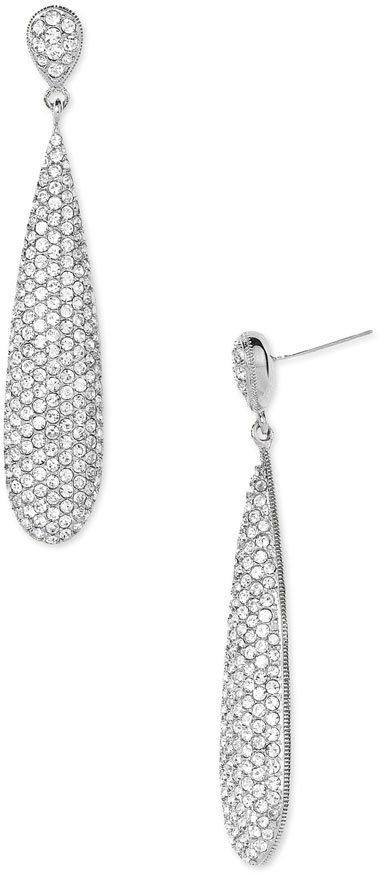 Nadri Pavé Crystal Linear Earrings