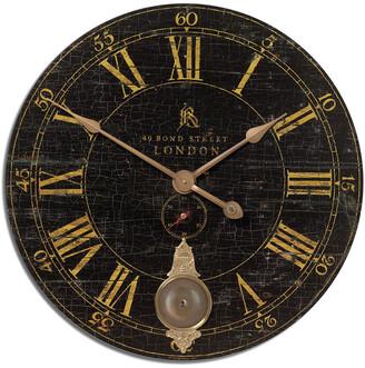 Uttermost Bond Street 30In Black Wall Clock