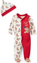 Baby Starters Red Sock Monkey Footie & Beanie - Infant