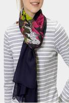 Joules Navy Floral Scarf