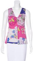 Etro Floral Print Sleeveless Top