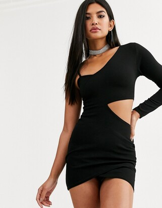 Public Desire one shoulder bodycon mini dress with cut out