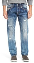 Rock Revival Men's Distressed Straight Leg Jeans