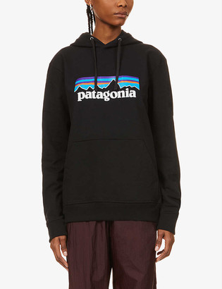Patagonia P-6 Uprisal logo-print recycled-cotton and polyester-blend hoody