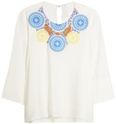 Peter Pilotto Athena Embroidered Crêpe Blouse