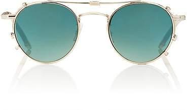 Garrett Leight Men's Wilson Sunglasses & Clip-Ons - Gold