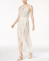 Bar III Lace Wrap Maxi Dress, Created for Macy's