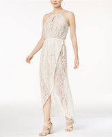 Bar III Lace Wrap Maxi Dress, Only at Macy's