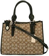 Coach monogram tote - women - Cotton/Leather - One Size