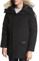 Canada Goose Langford Parka with Fur-Trimmed Hood, Black
