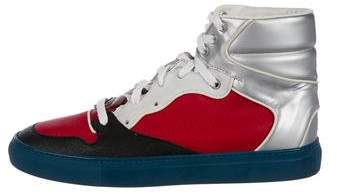 Balenciaga Colorblock Leather Sneakers
