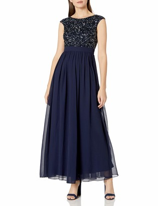 Aidan Mattox Aidan Women's Beaded Cap Sleeve Gown