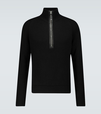 Tom Ford Half-zipped wool pullover