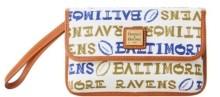 Dooney & Bourke Baltimore Ravens Doodle Milly Wristlet