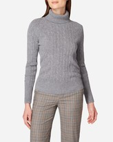 N.Peal Cable Roll Neck Cashmere Jumper