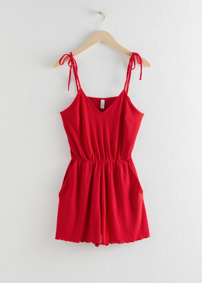 And other stories Frill Crepe Romper