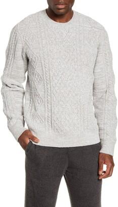 Barefoot Dreams CozyChic(TM) Aran Crewneck Sweater