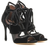 Tabitha Simmons Freya High Velvet And Mesh Sandals