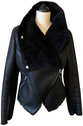 Muu Baa Muubaa Black Shearling Jacket for Women