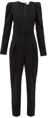 RED Valentino Pleated Crepe Jumpsuit - Black
