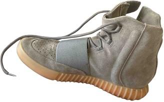 Yeezy Grey Suede Boots