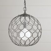 "Crate & Barrel Hoyne 15"" Iron Pendant Lamp"