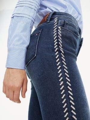Tommy Hilfiger Venice Slim Fit Contrast Pattern Jeans