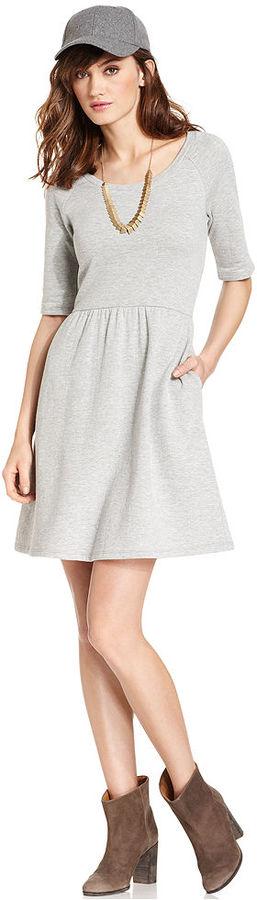 Maison Jules Heather-Knit Dress