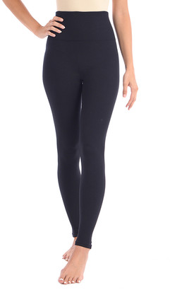 Body Beautiful Women's Leggings BLACK - Black High-Waist Shaping Leggings - Women & Plus