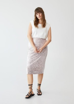 MANGO Sequin midi skirt